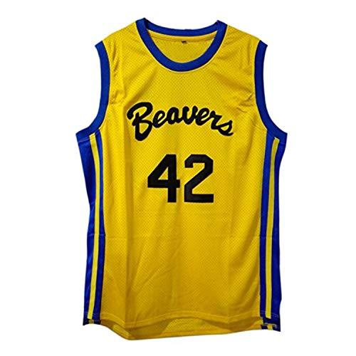 - Teen Wolf 42 Beacon Beavers Basketball Jersey Yellow (XL)