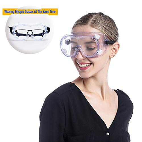 Safety Glasses Over Prescription Goggles Lab Anti Fog Anti Scratch Eye Protection Glasses Chemistry Protective Eyewear For Science Onion Goggles For Women Woodworking welding