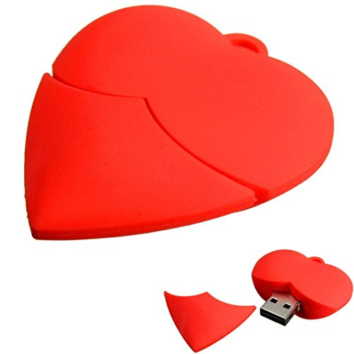Price comparison product image Mchoice Love Heart USB 2.0 Metal Flash Memory Stick Storage Thumb U Disk (32GB)