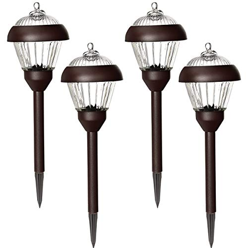 Metal And Glass Solar Path Lights
