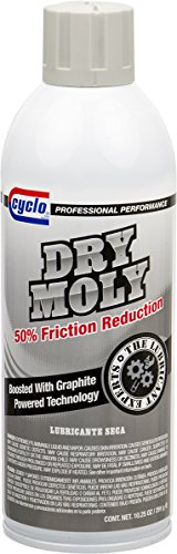 Cyclo Dry Moly Lubricant with Graphite, Aerosol Spray, 10.25 fl oz