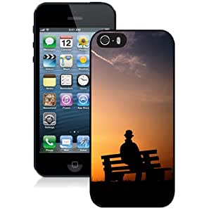 New Fashion Custom Designed Skin Case For iPhone 5s With Lonely Man Silhouette Phone Case Cover
