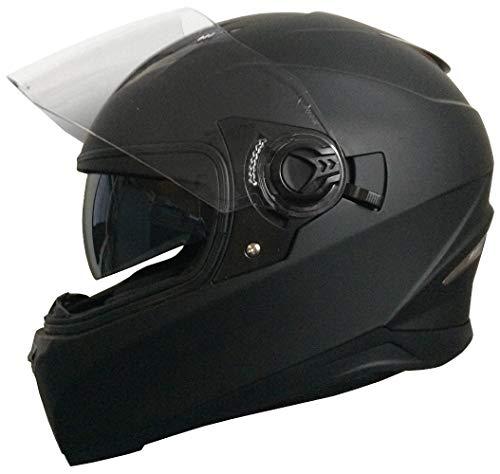 Integralhelm Helm Motorradhelm Rollerhelm RALLOX 09B Größe S matt schwarz mit Sonnenvisier