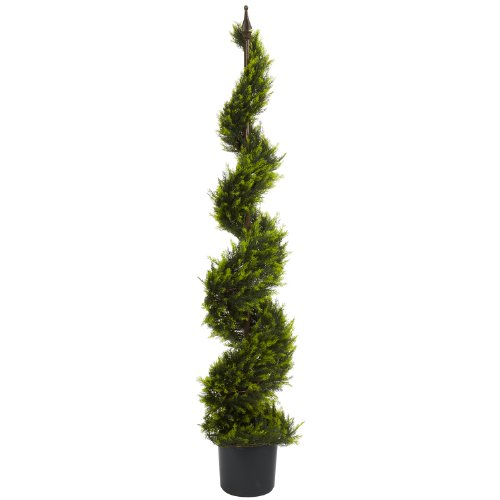 Nearly Natural 5325 Cypress Spiral Tree, 5-Feet, Green by Nearly Natural