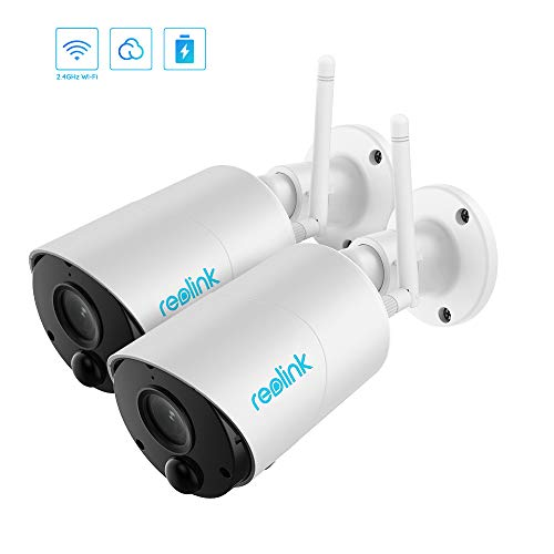 Outdoor WiFi Home Battery Security Camera System,Solar Powered 1080p HD Wirefree Waterproof 2-Way Audio Night Vision with PIR Motion Sensor,SD Socket and Cloud Service REOLINK Argus Eco (2 Pack)