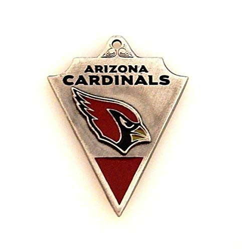 NFL Arizona Cardinals Football Silver Red Black Banner Charm ()