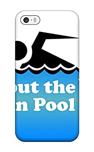 New Fashion Premium Tpu Case Cover For Iphone 5/5s - Swimming Pool