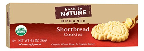 Back To Nature Non GMO, Organic Shortbread Cookies, 4.5 ounce Choc Shortbread