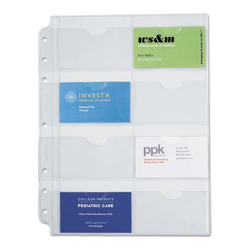 Day-Timer Business Card Holders for Looseleaf Planners, 8.5 x 11 Inches, 5 per Pack (87325) (Day Timer Business Binder)