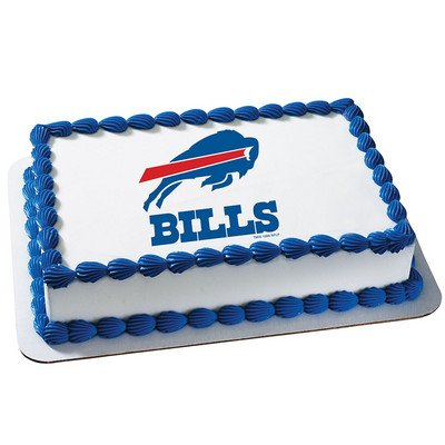 Buffalo Bills Licensed Edible Cake Topper #4585 (Buffalo Bills Pencil)