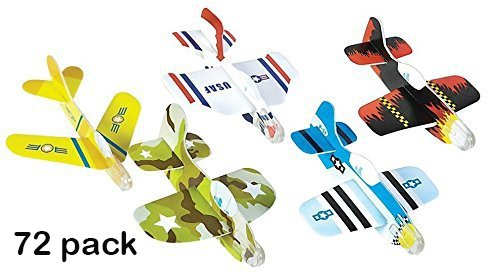 Foam Glider Plane Toy Set – 4 Inch, Assorted Pack of 72 – For Parties, Kids, Decoration, Gifts, Outdoors, and Other Events – Kidsco
