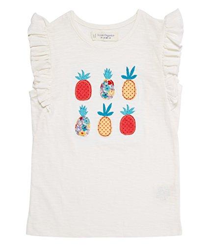 - Little Girls' Organic Cotton Short Butterfly Sleeves Tee (5-6 years)