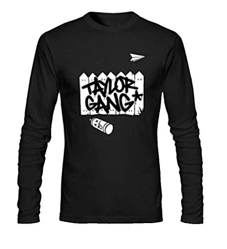 Taylor Gang Logo Long Sleeve Men's T-Shirt Large Black