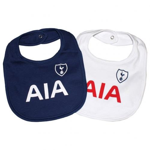 Tottenham Hotspur FC Bibs - Set of 2 - Bibs feature Spurs team colors and crest - Great for the Little Tottenham Hotspur FC fan - One Bib is Blue, One Bib is White - Tottenham Hotspur FC Soccer (2 Onesie Set)