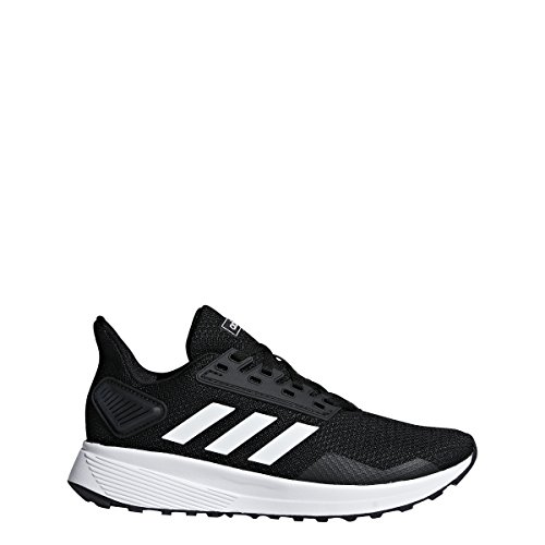 adidas Unisex-Kid's Duramo 9 Running Shoe, Black/White/Black, 5
