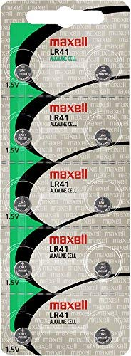 (maxell Lr41 alkaline 1.5v battery watch/electronics 2 pack)