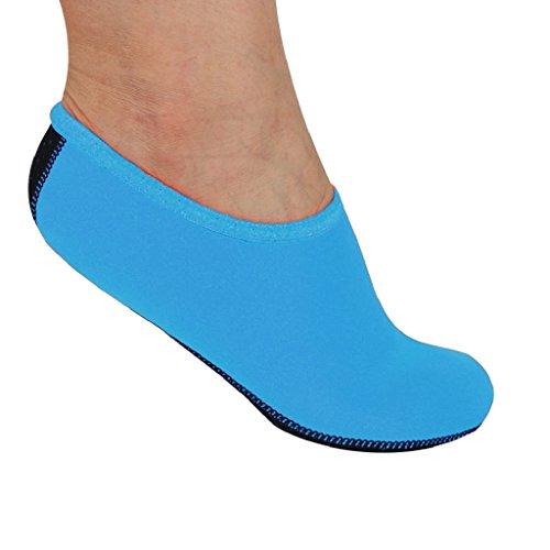 Ammazona Hommes Femmes Yoga Surf Plage Snorkeling Chaussettes Natation Plongée Chaussettes Chaussures De Bain Bleu