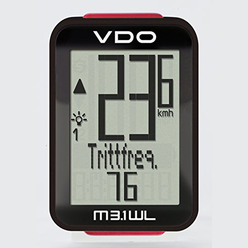 VDO M3.1 Bicycle Wireless Computer Digital Extra Durable Bike Black/White Cycling Computers 2017 (Vdo Bike Computer)