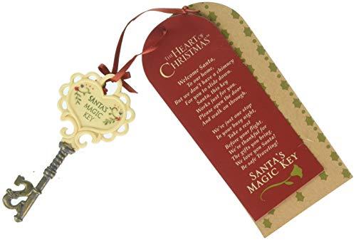 Enesco Heart of Christmas Santa's Magic Key Hanging Ornament, 4.21