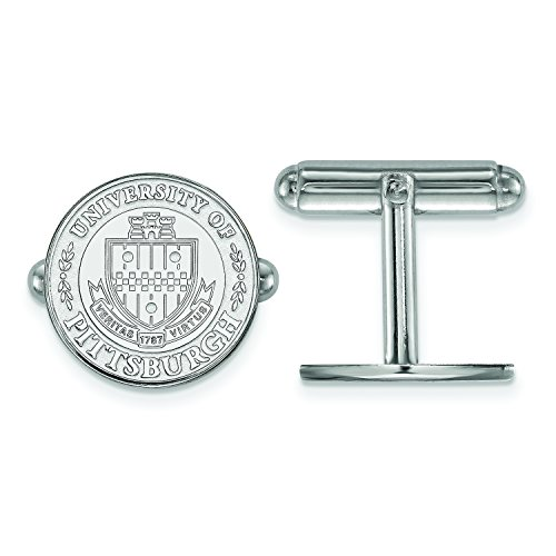 Pitt Crest Cuff Links (Sterling Silver)