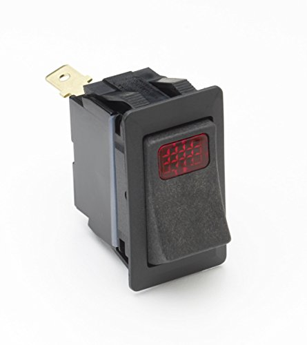 Cole Hersee 58328-04 Black SPST On-Off Rocker Switch with Red ()