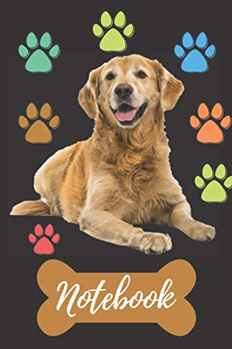 Notebook-Excellent-cute-Golden-Retrievers-gift-for-animal-and-dog-lovers-Its-a-blank-line-journal-for-journalism-writing-notes-and-ideas