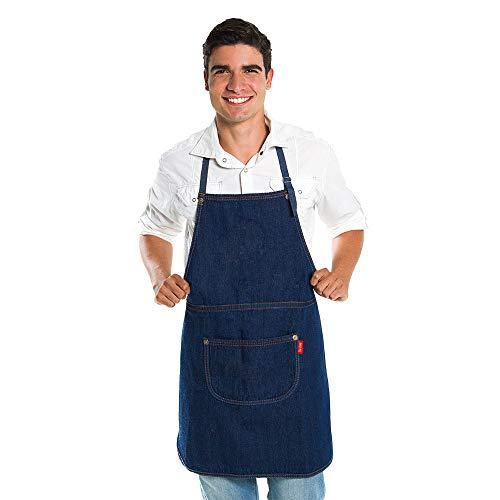 Avental Jeans com Bolso Cozinha Bar Jardinagem Unissex