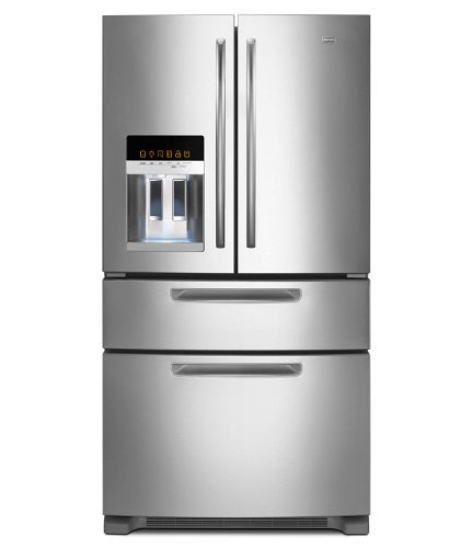 Maytag MFX2570AEM Ice2O 25 Cu. Ft. Stainless Steel French Door Refrigerator - Energy Star