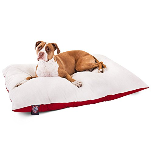 36x48  Red Rectangle Pet Dog Bed By Majestic Pet Products  ()