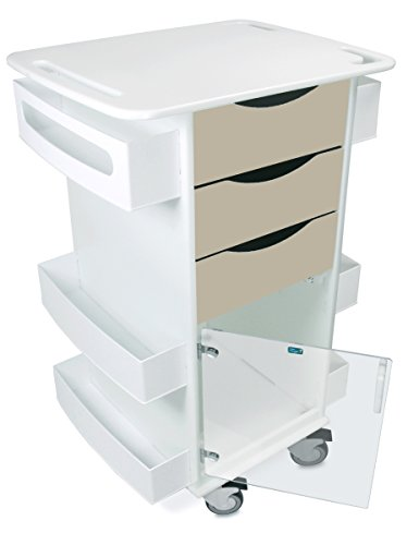 hylene/ABS Locking Core DX Multi-Tasking Storage Cart with Clear PETG Hinged Door, 23
