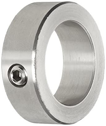 """Climax Metal C-087-S Shaft Collar, One Piece, Set Screw Style, Stainless Steel, 7/8"""" Bore, 1-1/2"""" OD, 9/16"""" Width, With 5/16-18 Set Screw"""