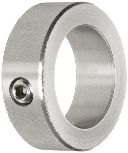 Shaft Collar, One Piece, Set Screw Style, Stainless Steel, 1-1/2
