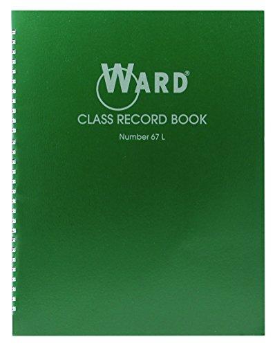 Class Record Book, 38 Students, 6-7 Week Grading, 11 x 8-1/2, Green (HUB) - Ward 67L