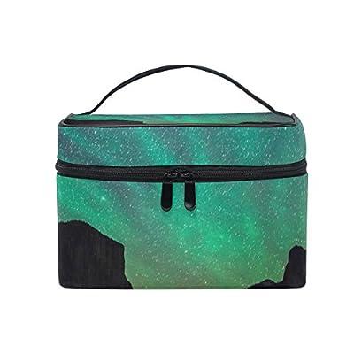 f09c3ed028 ALIREA Milky Way Stars Forest Cosmetic Bag Travel Makeup Train Cases  Storage Organizer 80%OFF