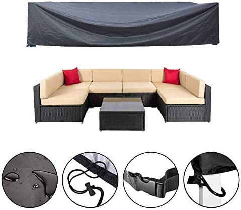 Mr.You Patio Cover,Patio Furniture Set Covers Waterproof Outdoor Furniture Lounge Porch Sofa Waterproof Dust Proof Protective-126 L x 64 W x 29 H