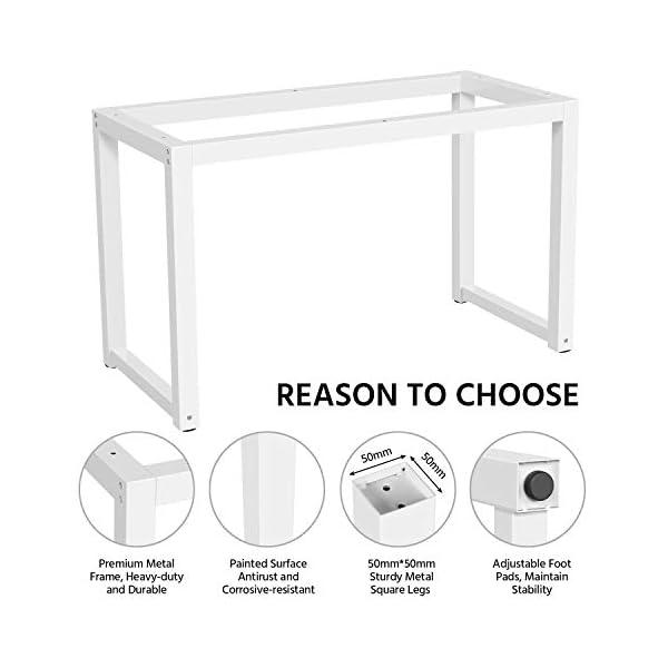 Yaheetech Bureau Table Informatique Bureau Ordinateur, Style Simple, Cadre en Fer Peint, 120 x 60 x 70 cm pour Bureau…