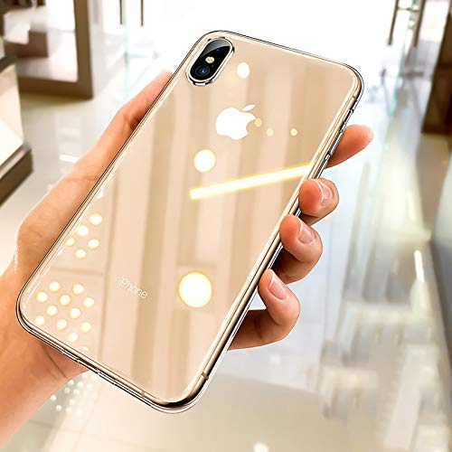 Ainope Crystal Clear iPhone Xs Max Case,[Invisible Airbag Protection] Ultra Thin Phone Cover with Anti-discoloration Slim Case Compatible Apple iPhone XsMax / X Max 6.5 inch 2018 (Transparent)