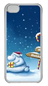 Customized Case Snow Christmas for the elderly PC Transparent for Apple iPhone 5C