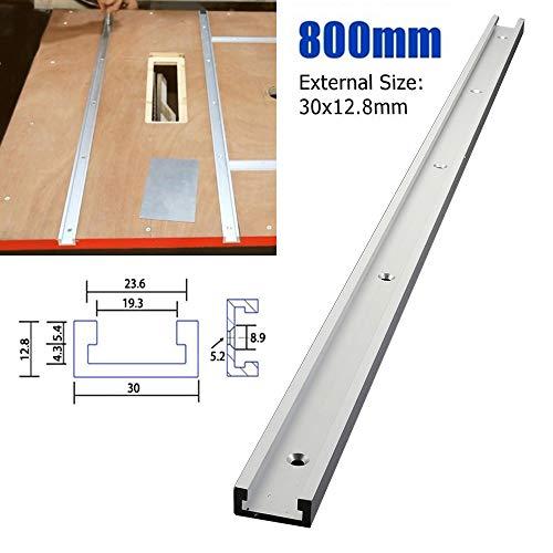MZY1188 31.5inch T-slot Miter Track Jig Fixture Slot,Aluminium alloy Rail Miter Bar Slider Woodworking T-slot T-tracks…