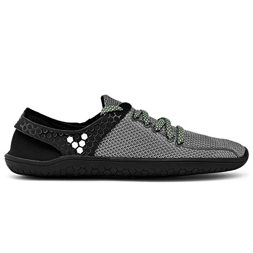 Vivobarefoot Wing Women's Minimalist Yoga Shoe, Gunmetal/Black, 43 D EU (11.5 US)