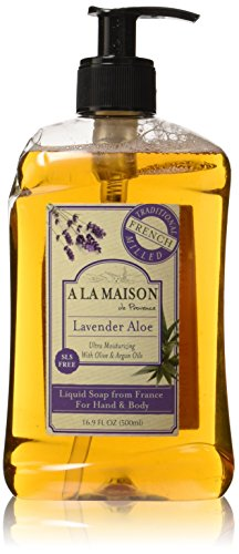 A La Maison de Provence Liquid Soap, Lavender Aloe, 16.9-Ounce Bottles (Pack of ()