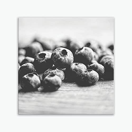 BLUEBERRIES FOOD FRUITS AND VEGETABLES Canvas Wall Art F89 UNFRAMED-ROLLED