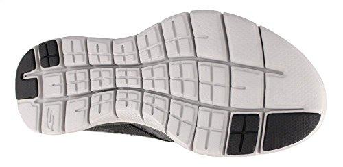 Zapatillas Appeal Skechers 0 para Black Mujer 2 New Image Gray Flex fwqZY