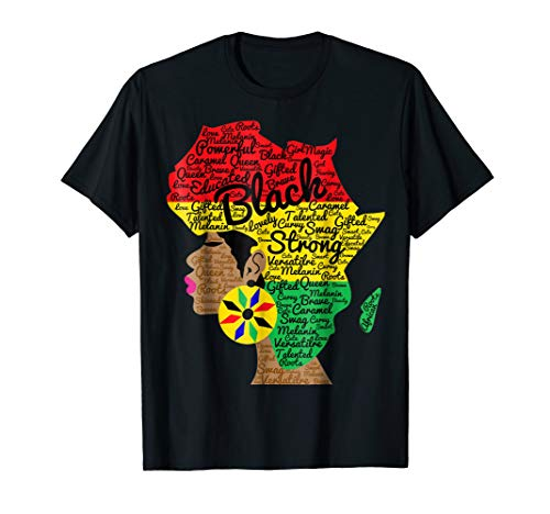 African American Woman With Afro Word Art Natural Hair Shirt (Best Hair Color For African American Women)
