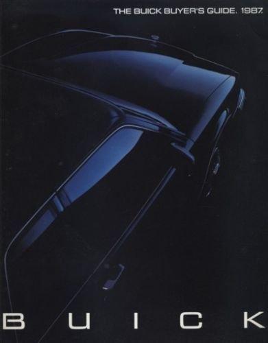 1987 Buick Sales Brochure Catalog - Riviera Regal Grand National LeSabre Electra Century