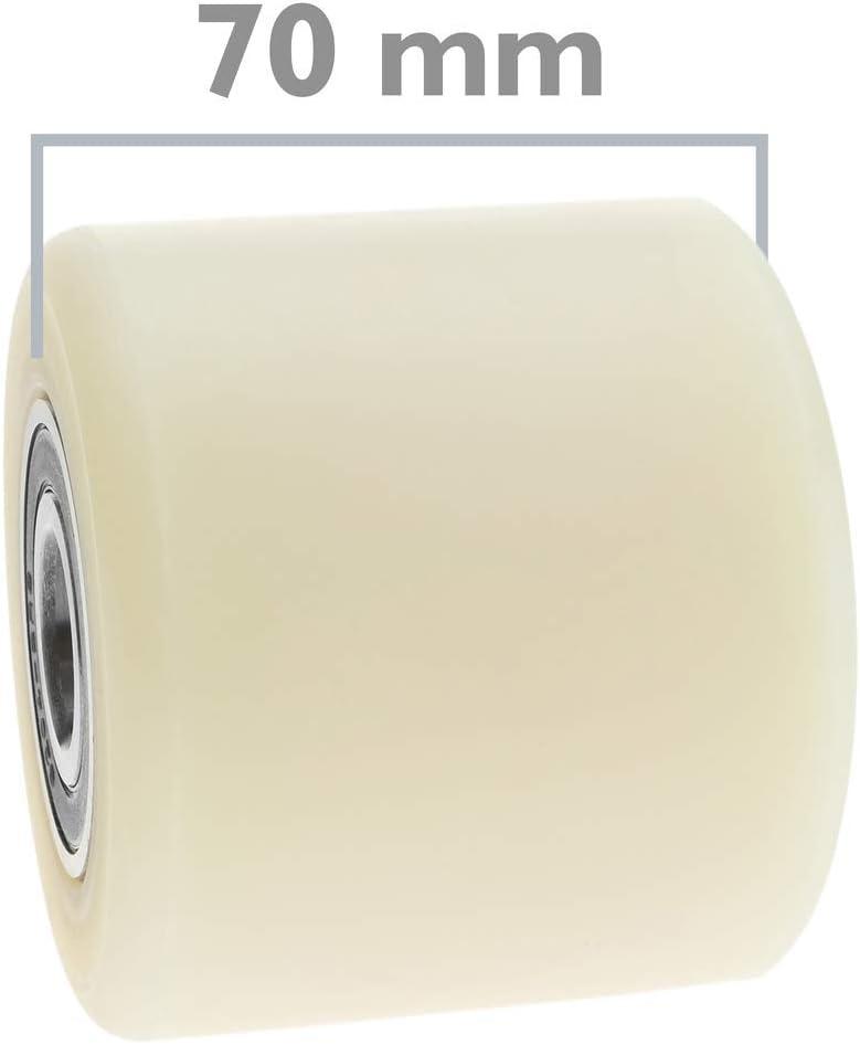 PrimeMatik Roue pour transpalette Rouleau pour Palette en Nylon 80x70 mm 700 Kg 4-Pack