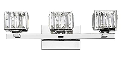 3-Light Contemporary Crystal Globe Bath Vanity Wall Fixture