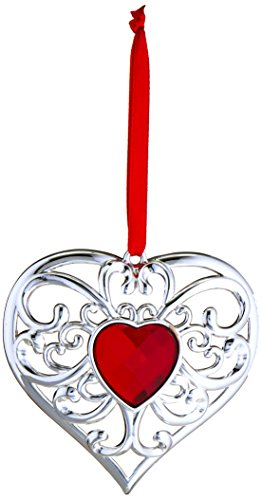 Heart Shaped Ornaments (Lenox Gemmed Heart Ornament)