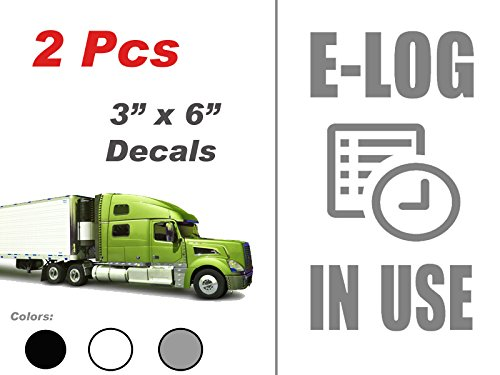 multi color or reflective 2 pcs E-Log in Use Vertical Electronic Log Book ELD Logbook Vinyl Decal Sticker for Truck Van semi