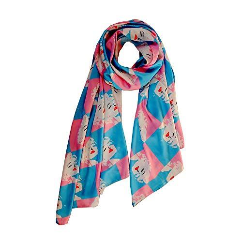 Women Scarf Lingso Wrap for Boy Girl Men Gift Fashion Marilyn Monroe Colourful Shawl ()